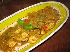 パザパ:石エビと夏野菜のカレーDEおこげ