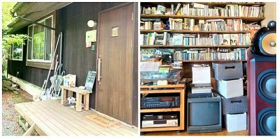カフェ山猫軒:外観&店内壁面