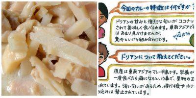 タイ風 ドリアンのココナッツカレー:実物&パッケージ裏面