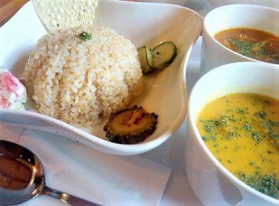 カフェ山猫軒:お野菜とお肉のダブルカレーセット